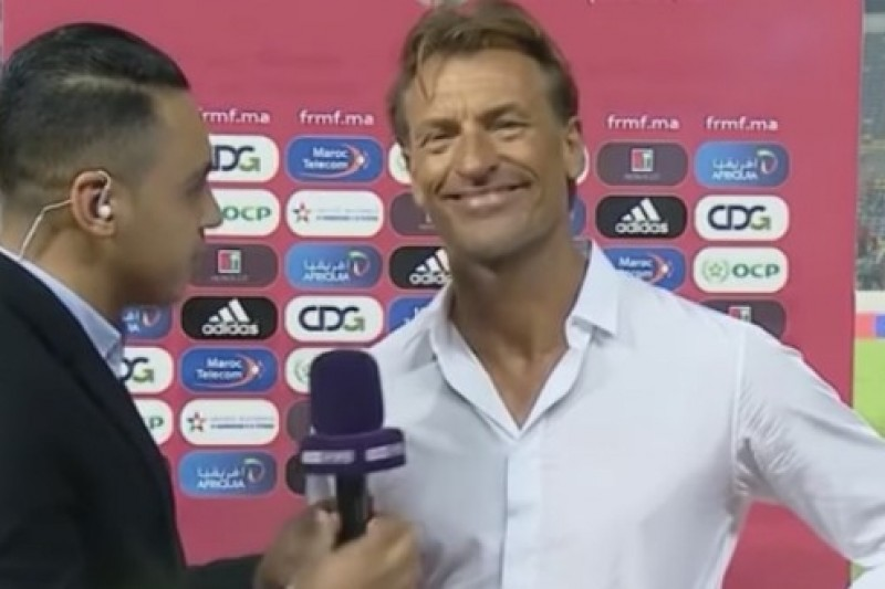 La question qui a fait rire Hervé Renard après le match (VIDEO)